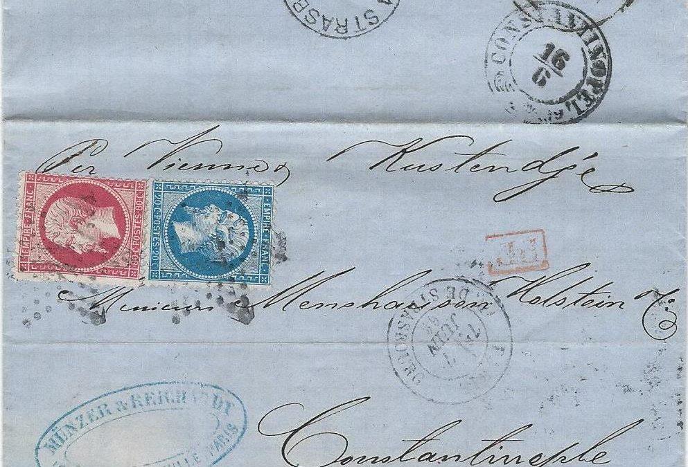 Timbre essai de 1866 des bureaux ambulants