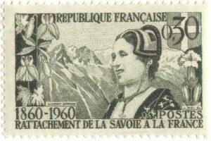 1960_timbre rattachement de la savoie