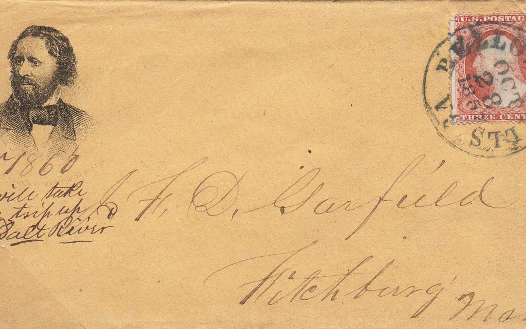 ETATS UNIS : Enveloppe illustrée éditée pour  la campagne présidentielle de 1856