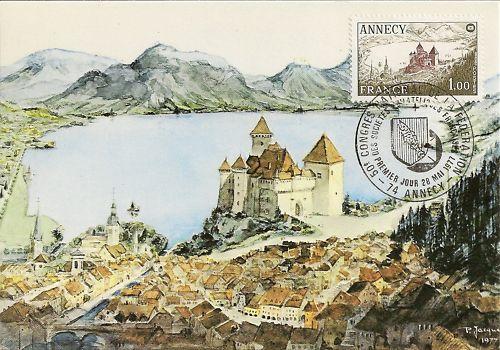 Il y a 40 ans : le 28 mai 1977, le timbre d'Annecy est émis