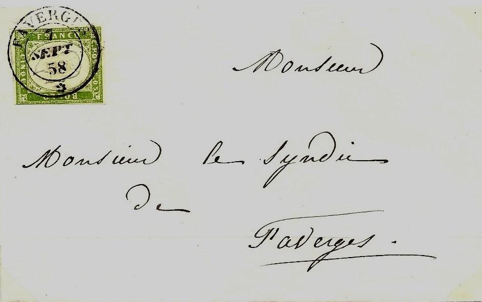 La Poste Sarde dans l'Arrondissement d'Annecy 1816 – 1860