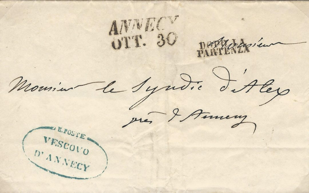1819 – 1860 : La Franchise Postale à Annecy (I)