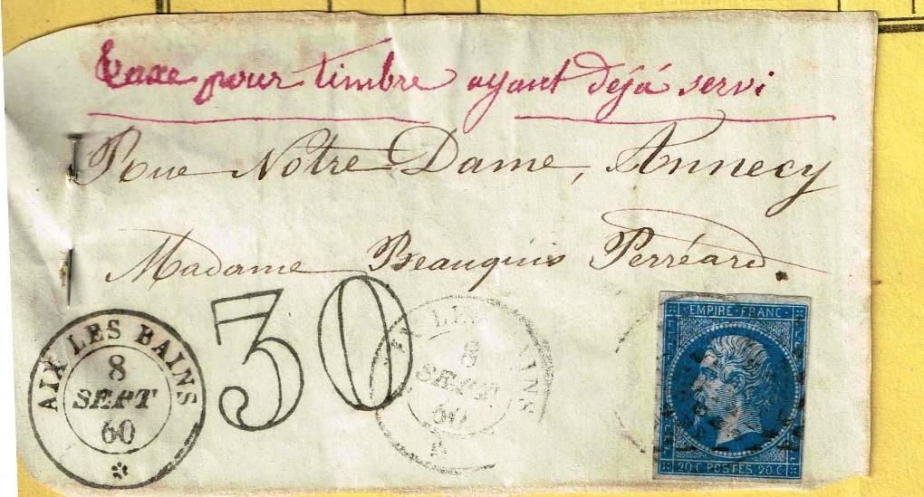 Utilisation de Timbres Frauduleux – L'exemple d'Aix-les-Bains