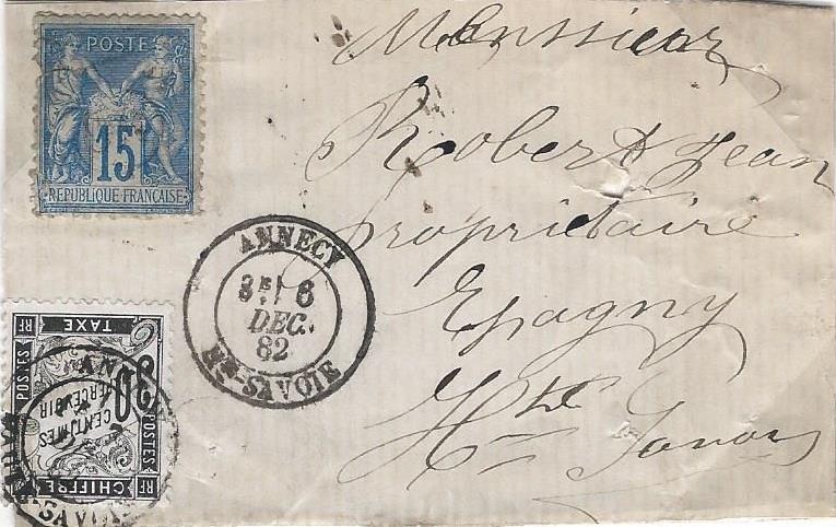 Taxe pour timbre ayant déjà servi (II)