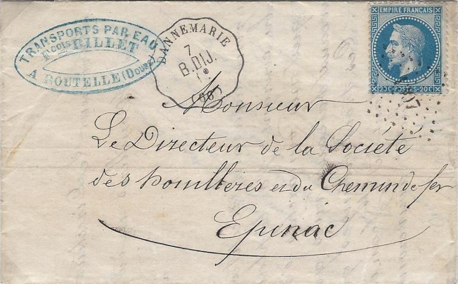 1868 – La fausse couronne de Dannemarie des convoyeurs stations de la ligne ferroviaire Besançon à Dijon