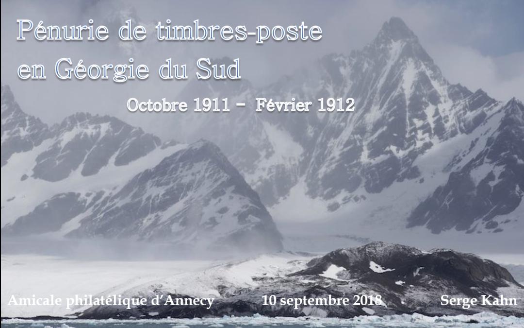 Pénurie de timbres-poste en Géorgie du Sud (Octobre 1911 – Février 1912)