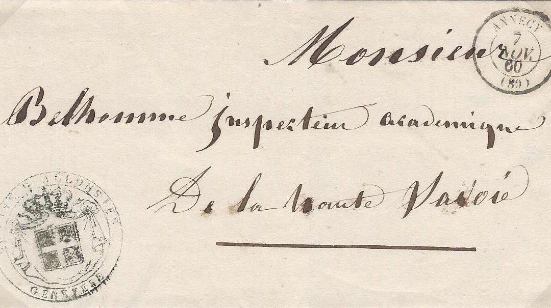 1860 juin à décembre – L'administration sarde reste toujours visible
