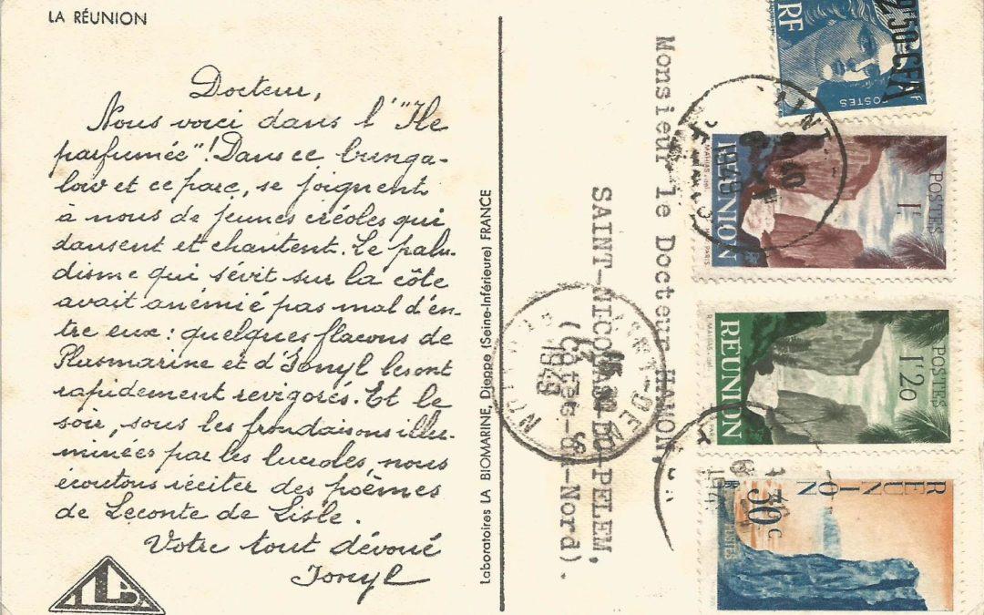 1948/49 – Carte Publicitaire du Laboratoire la Biomarine de Dieppe