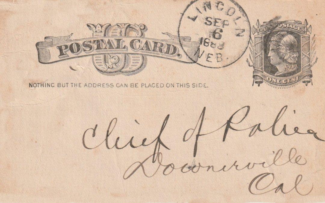 1888 – Etats Unis – Usage particulier d'entiers postaux (I)
