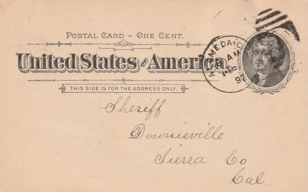 1897 – Etats Unis – Usage particulier d'entiers postaux (II)