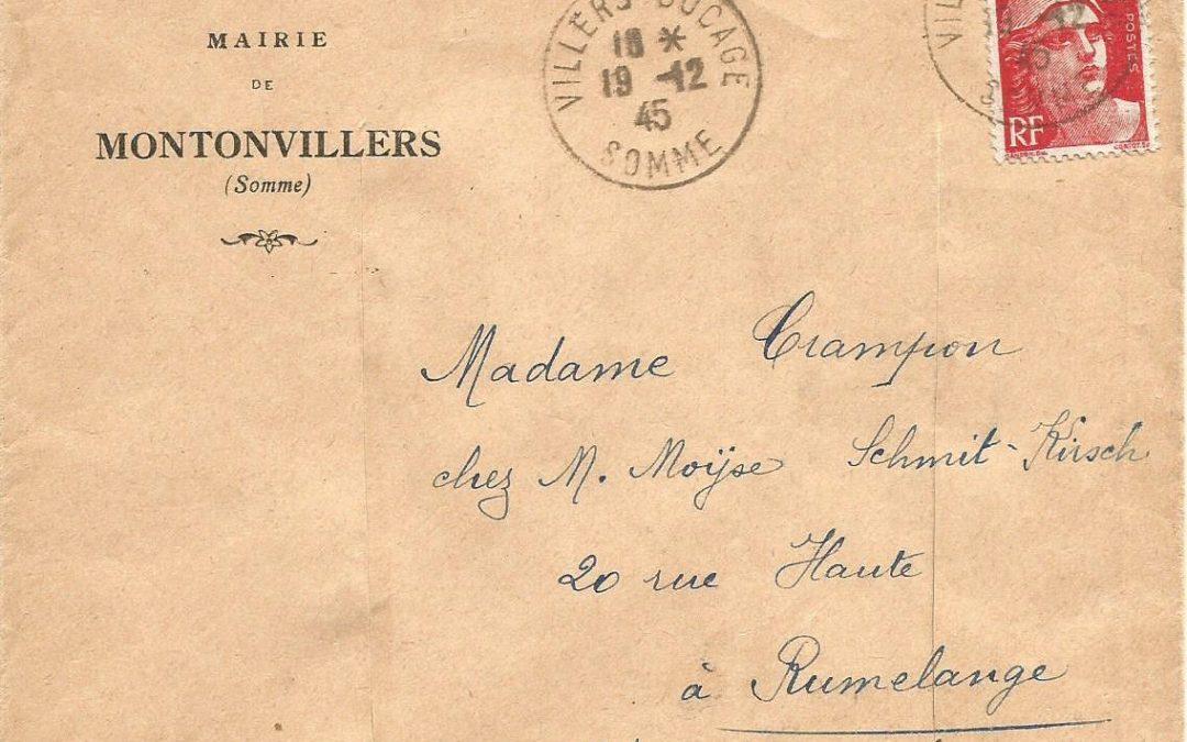 1942 : Tarif relation avec le Grand-Duché de Luxembourg ?