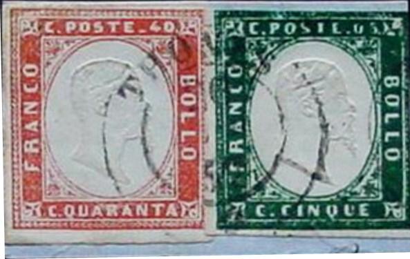 Les Timbres-poste utilisés en Savoie du 1/01/1851 au 14/06/1860