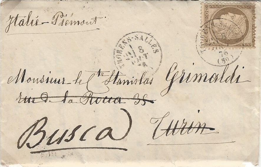 Les Marques Postales et Timbres à Date du Canton de Thorens-Sales au 19° Siècle