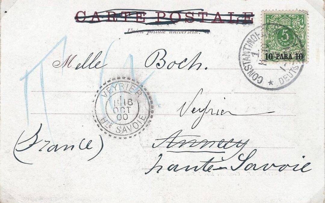 1900 – Une carte postale de Constantinople pour Veyrier-au-Lac