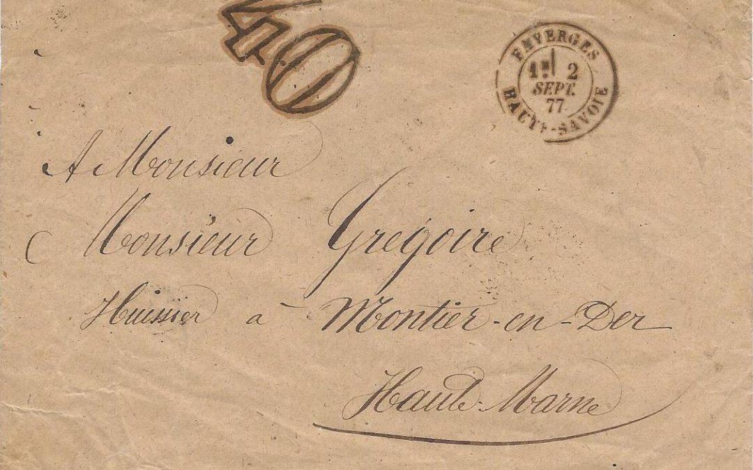 1850 – 1882 – Taxation par les timbres-taxe double trait